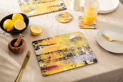 yellow pattern placemats