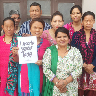We work with charity and fair trade producer groups in Nepal.