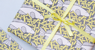 fish and chips wrapping paper