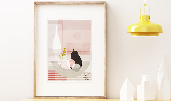 Black Pear Art Print