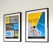 Blue Cycling Terms Print with Personalised Breakaway Cycling Print