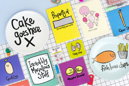 A collection of cheekily illustrated gifts and greetings