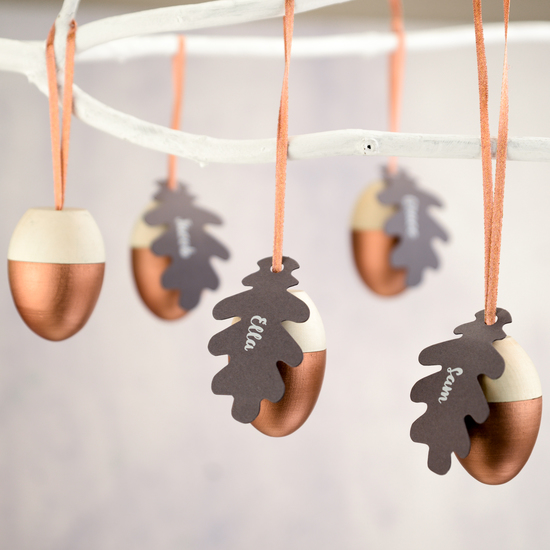 Wooden acorn hanging decorations