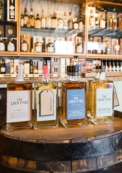 The Loch Fyne range in our shop in Inveraray