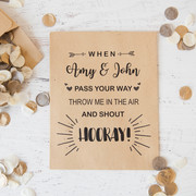 Personalised confetti envelope