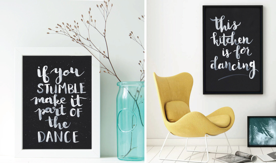 Personalised and on-trend prints for all occasions