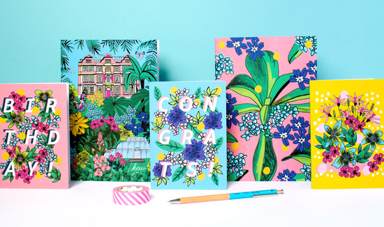 London Botanicals SS17 stationery collection By Natalie Lea Owen
