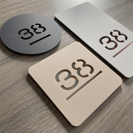 CONTEMPORARY LASER CUT HOUSE NUMBER