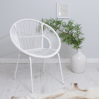 White Bamboo Chair