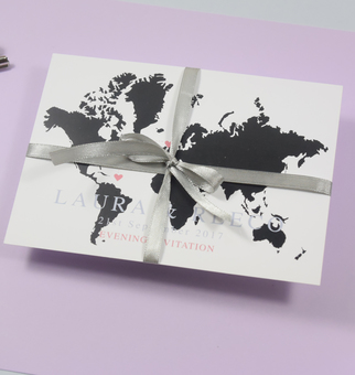 map wedding invitation