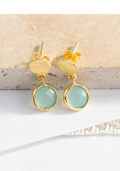 Aqua Gemstone Earrings
