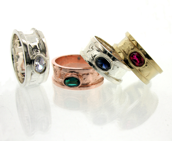 Gemstone cocktail rings