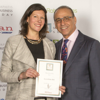 Winning a Small Business Award from Theo Paphitis