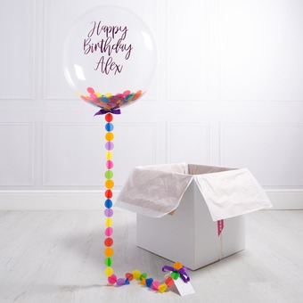 Rainbow Birthday Bubble Balloon