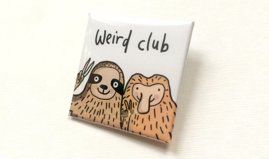 Sarah Ray Weird Club badge