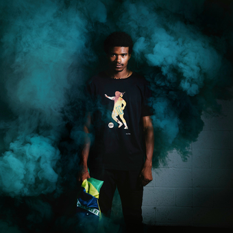 Art of football smoke shoot