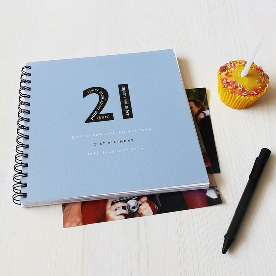 Personalised 21st Birthday Memories Album