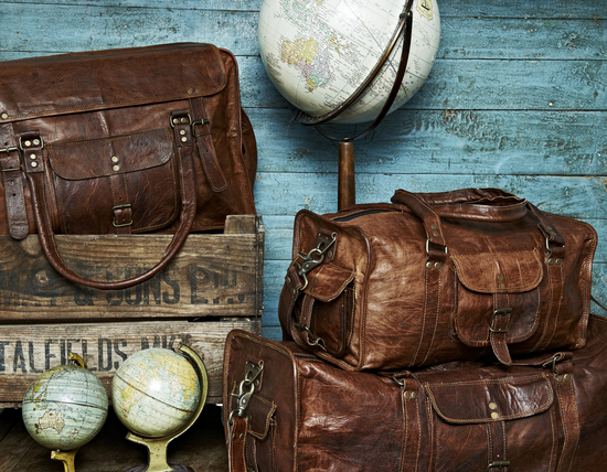 Selection of Vida Vida Leather Travel Bags