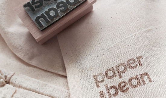paper & bean cotton bags