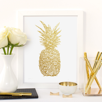 pineapple tropical art print
