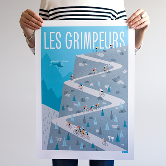 The Climbers Cycling Poster