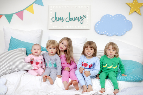 Group of children wearing Jim jamz pyjamas