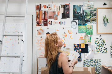 Liz in her studio