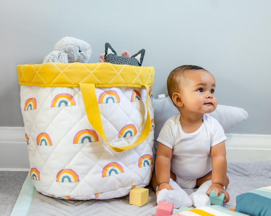 Rainbow toy basket