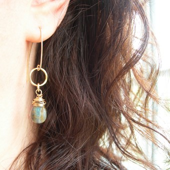 Aurora Labradorite Earrings by Hazey Designs