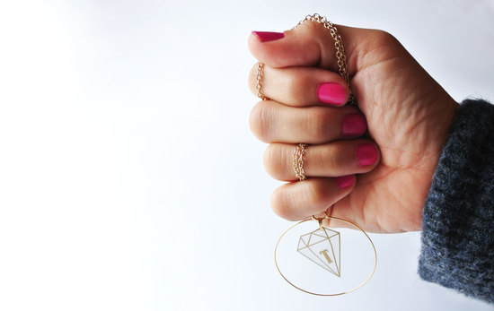 Flexible vinyl jewellery.