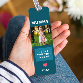Personalised 'Mummy I Love You This Much' Bookmark