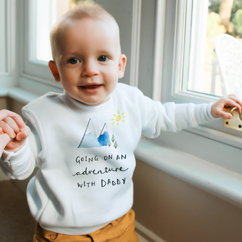 Personalised Baby Sweatshirt from Ruby and Rafe