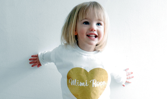 Personalised Glitter Heart t-shirt