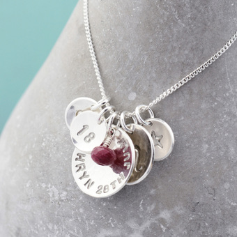 Silver Birthday Necklace