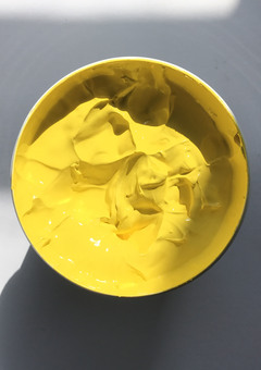 Yellow screen printing ink