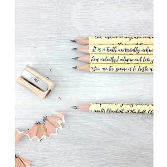 gifts for book lovers jane austen pencils pride and prejudice gifts for bookworms