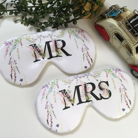 Mr and Mrs personalised couple eye mask