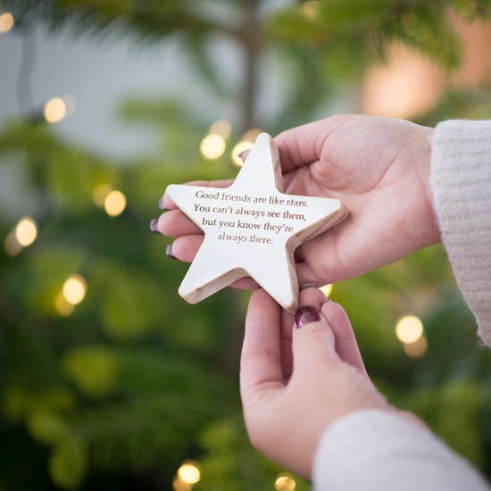 Personalised wooden star keepsake