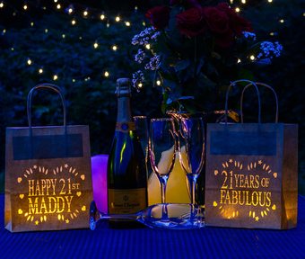 Lantern bags - for birthdays or events, personalised for you!