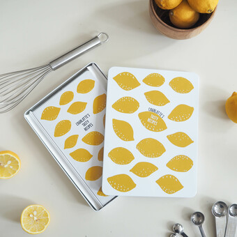 Personalised Recipes Notebook Tin Set