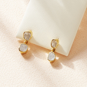 antique diamond gold earrings