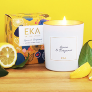 Lemon & Bergamot Scented Soy Candle