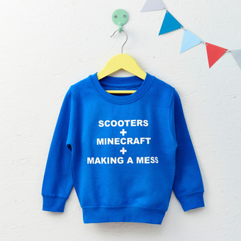 favourite things personalised sweatshirt
