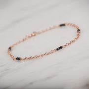 Black Spinels in 9ct Rose Gold Bracelet