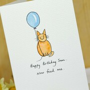 Cat with Balloon Card