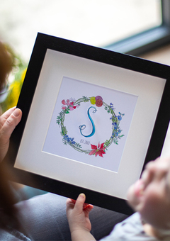 Personalised 3D Birth Flower Family Wreath
