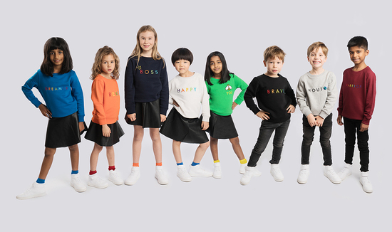 LoveLuxLondon Organic sweatshirts are playful and positive with a premium feel