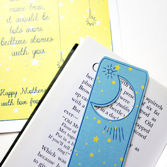 personalised bookmark greeting card