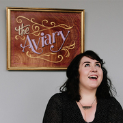 Becci Maryanne, at her studio 'The Aviary'