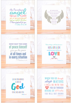 Sample of our Bible verse card range